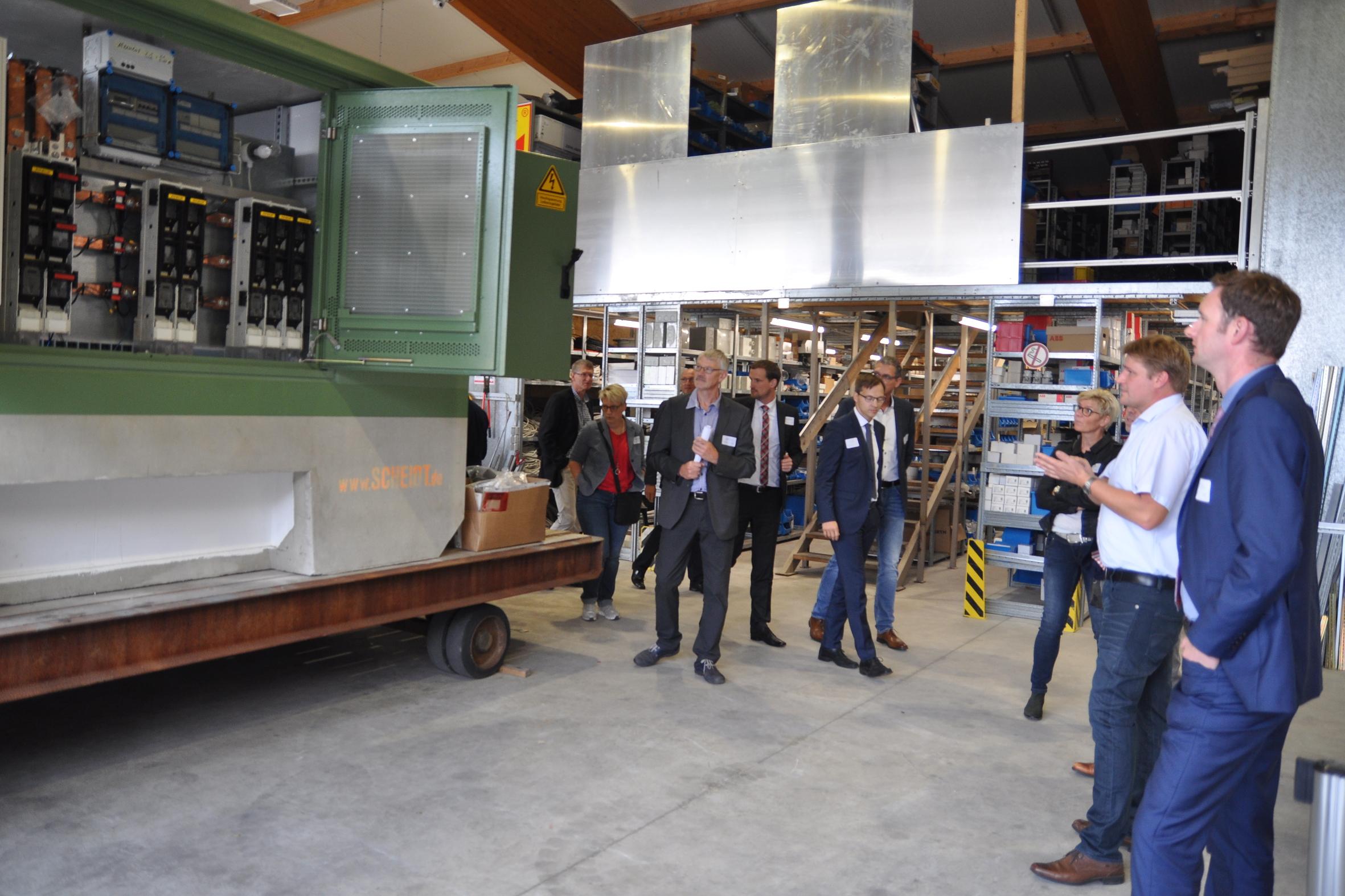 Unternehmertag Nordkreis Osnabrück ILEK zu Gast bei Elektrotechnik Grüter in Neuenkirchen